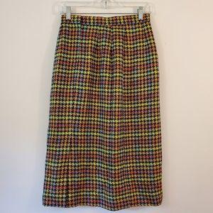 Vintage Don Caster colorful long pencil skirt 6